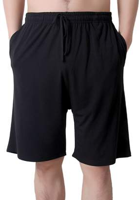 2d607281414 ENJOYNIGHT Men's Sleep Shorts Loose Lounge Shorts Pajama Bottom Pants