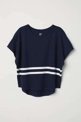 H&M Modal-blend Top - Blue