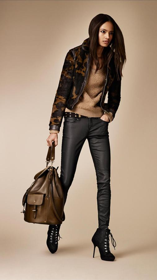 Burberry Large Leather Hobo Bag