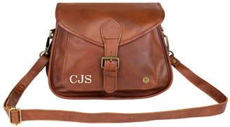 MAHI Leather Personalised Leather Classic Saddle Bag