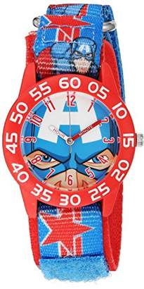 EWatchFactory Marvel Boy's 'Captain America' Quartz Plastic and Nylon Watch