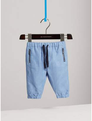 Burberry Pull-on Chambray Trousers