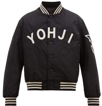 Y-3 Y 3 Yohji Letters Technical Bomber Jacket - Mens - Black White