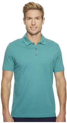 Perry Ellis Micro Print Pima Cotton Polo Shirt Men's Clothing