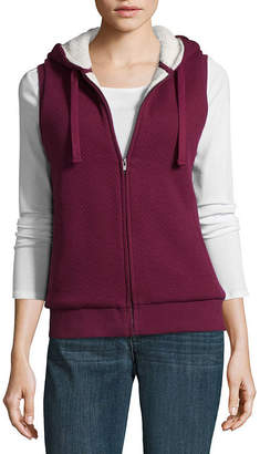 ST. JOHN'S BAY SJB ACTIVE Active Quilted Vest with Plush Lining- Talls