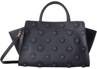 ZAC Zac Posen Eartha Iconic East/West Shopper w/ Floral Applique $550 thestylecure.com