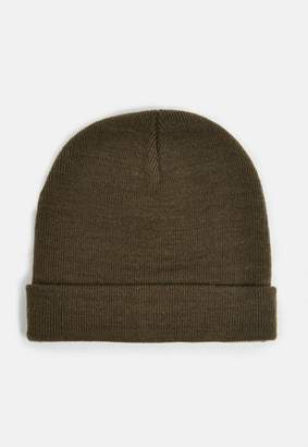 Missguided Khaki Skinny Rib Hat