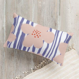Happy Blossoms Lumbar Pillow