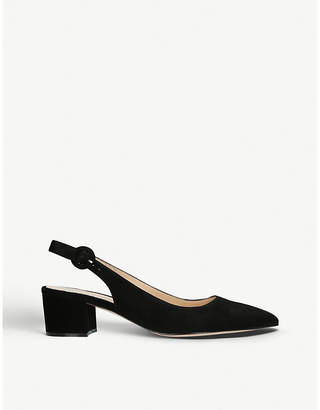 Gianvito Rossi Amee suede slingback courts