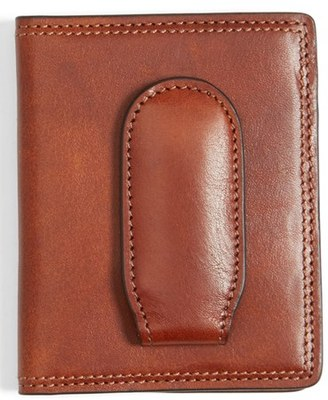 Men's Bosca Leather Front Pocket Money Clip Wallet - Brown $95 thestylecure.com