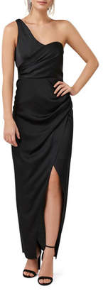 Ever New Asymmetric One-Shoulder Draped Maxi Dress