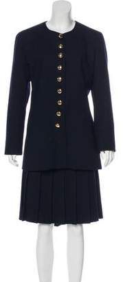 Christian Dior Wool Knee-Length Skirt Suit