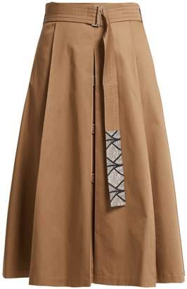 Max Mara S Nuoro pleated cotton skirt