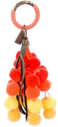 Nannacay Multicolor Pom-Pom Keychain Orange Multicolor Pom-Pom Keychain