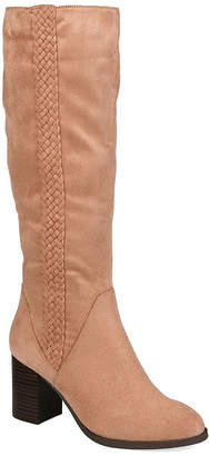 Journee Collection Womens Gentri Stacked Heel Over the Knee Boots
