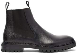 Lanvin Grained Leather Chelsea Boots - Mens - Black