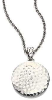 """John Hardy Palu Sterling Silver Pendant Necklace/22"""""""
