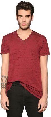 Devore Cotton Blend Jersey T-Shirt $68 thestylecure.com