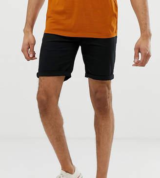 Asos Design TALL Slim Chino Shorts In Black