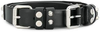 Prada studded buckle belt