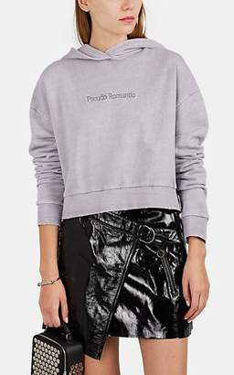 "Ksubi Women's ""Pseudo Romantic"" Cotton Crop Hoodie - Purple"