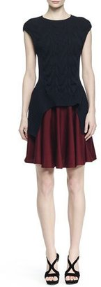 Alexander McQueen Colorblock Cable-Knit Layered Dress $2,195 thestylecure.com