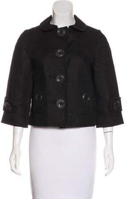 Andrew Gn Woven Flat Collar Jacket