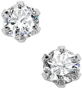 Classic Jewels プラチナ ダイヤモンド 6本爪 ピアス プラチナ
