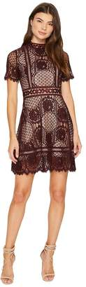 BB Dakota Aria Short Sleeve Lace Dress Women's Dress