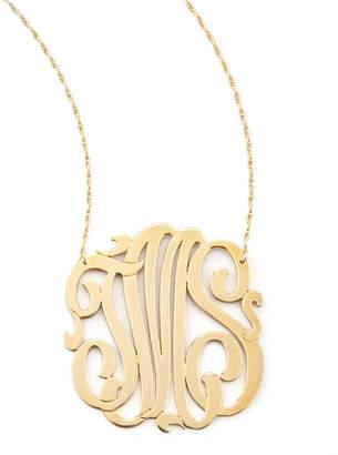 Jennifer Zeuner Jewelry Three-Initial Pendant Necklace