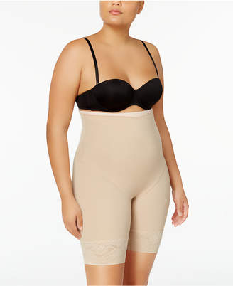Maidenform Women's Firm Foundations Curvy Plus Size Firm Control High Waist Thigh Slimmer DM1024