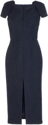 Martin Grant Structured Cap Sleeve Midi Dress