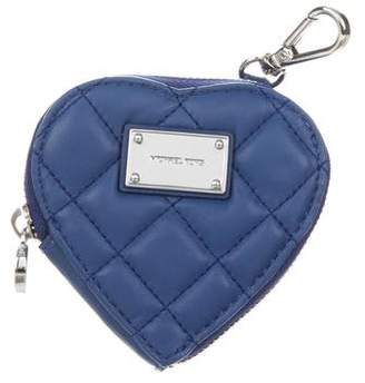 MICHAEL Michael Kors Quilted Heart Coin Purse w/ Tags