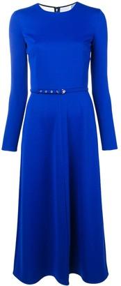 Emilio Pucci Blue Silk Midi Dress