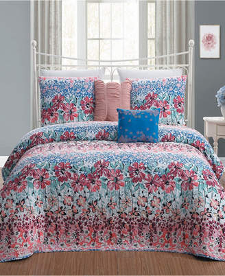 Geneva Home Fashion Carla 5pc Queen Quilt Set