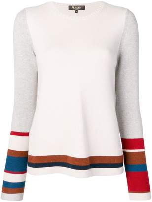 Loro Piana knit panelled jumper