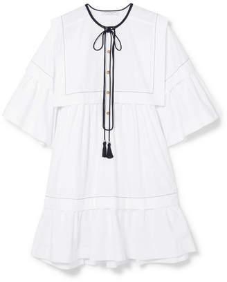 Philosophy di Lorenzo Serafini Cotton-poplin Mini Dress - White