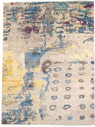 F.J. Kashanian Graphic Hand-Knotted Wool Rug
