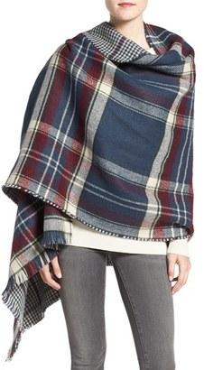 Women's Barbour Reversible Plaid & Check Wrap $89 thestylecure.com