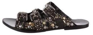 Collection Privée? Leather Studded Sandals