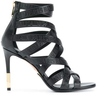 Balmain strappy ankle sandals