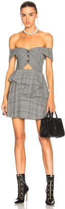 Self-Portrait Self Portrait Cut Out Check Mini Dress