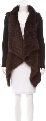 Love Token Knitted Fur Cardigan