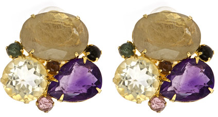 Bounkit Multi Stone Cluster Earrings