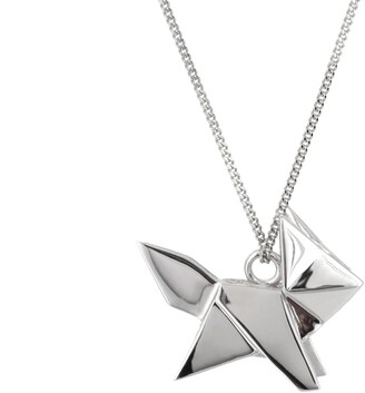Origami Jewellery Fox Necklace Silver