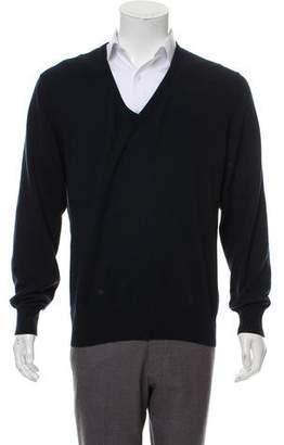 Loro Piana Silk & Cashmere-Blend V-Neck Sweater