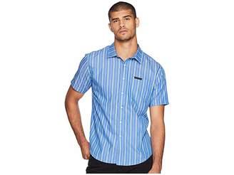 Sean John Short Sleeve Yarn-Dye Stripe Shirt Men's Clothing