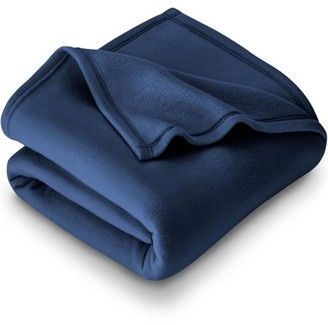 Bare Home Polar Fleece Cozy Bed Blanket - Hypoallergenic Premium Poly-Fiber Yarns, Thermal, Lightweight Blanket (Full/Queen, Dark Blue)