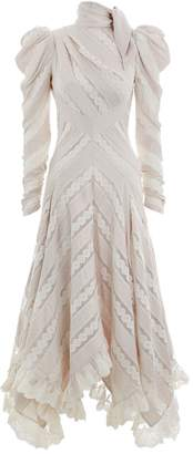 Zimmermann Unbridled Chevron Panel Dress