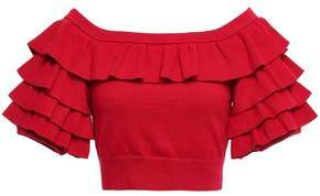 Marissa Webb Cropped Tiered Knitted Top